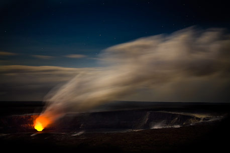 Halemaumau Crater at Night - Photo Credit: Ken Goodrich, kengoodrich.net